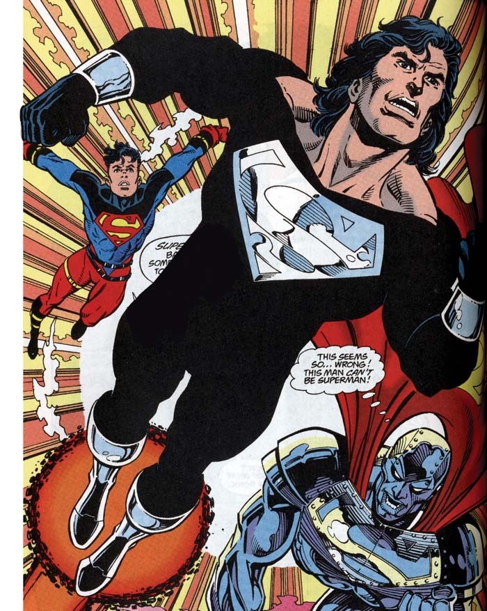 Superman black and silver - Return of Superman