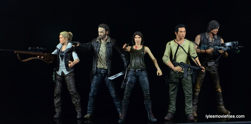 The Walking Dead Maggie Green figure McFarlane Toys - Andrea, Rick Grimes, Maggie, Glenn and Daryl