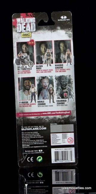 The Walking Dead Maggie Green figure McFarlane Toys -rear package
