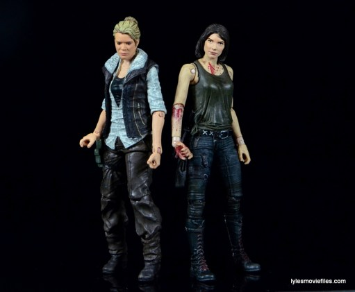 The Walking Dead Maggie Green figure McFarlane Toys -with Andrea