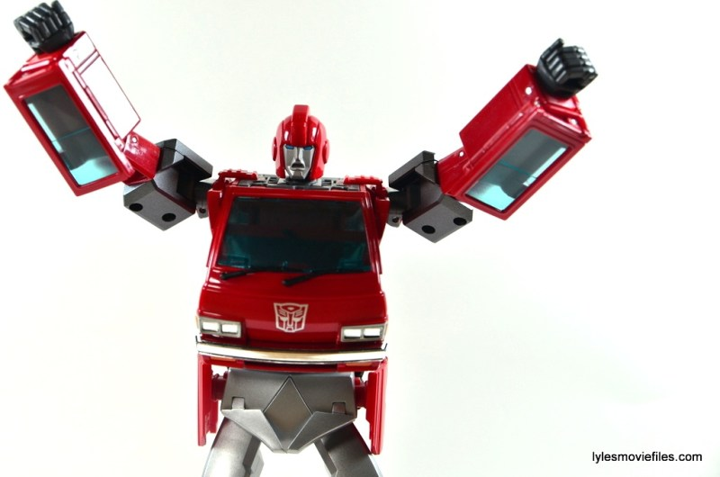 Transformers Masterpiece Ironhide figure review - alternate head plate