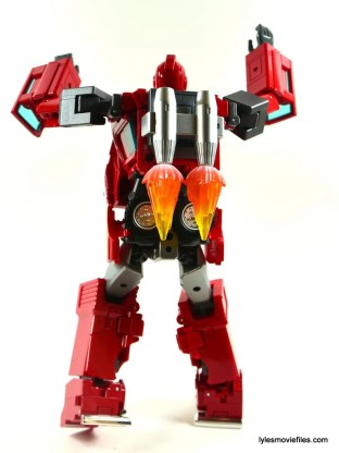 Transformers Masterpiece Ironhide figure review -jetpack rear