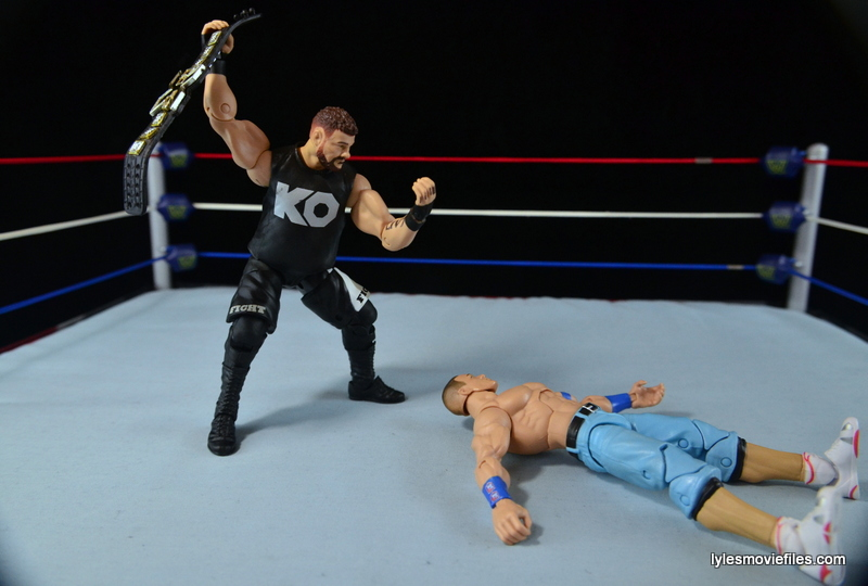 WWE Elite 43 Kevin Owens figure review - John Cena can't see Kevin Owens