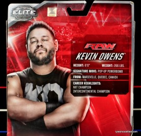 WWE Elite 43 Kevin Owens figure review - package bio