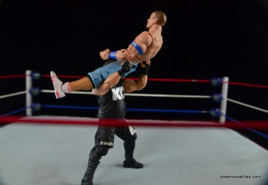 WWE Elite 43 Kevin Owens figure review - pop-up power bomb to John Cena