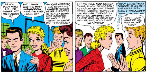 liz-allan flash thompson peter parker spider-man marvel comics
