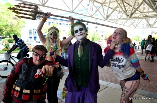 Baltimore Comic Con 2016 - Deadshot, Aquagirl, Joker and Harley Quinn