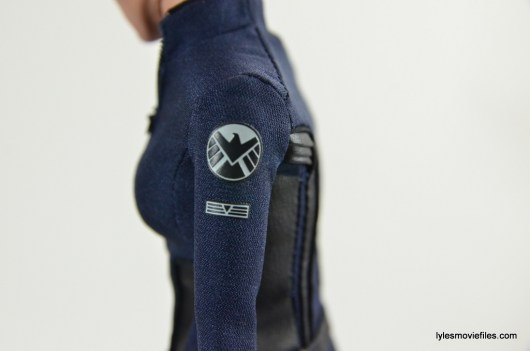Hot Toys Maria Hill figure -SHIELD insignia closeup