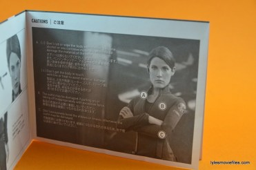 Hot Toys Maria Hill figure -instructions page 2