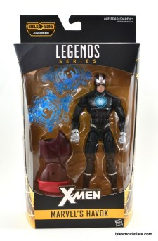 Marvel Legends Havok figure review - front package
