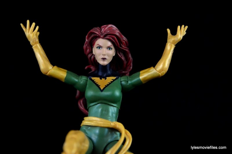 Marvel Legends Phoenix figure review - gliding