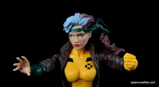 Marvel Legends Rogue figure review - non-gloved hand