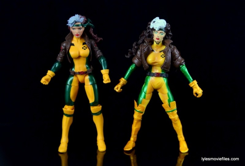 Marvel Legends Rogue figure review - with Toy Biz Rogue custom