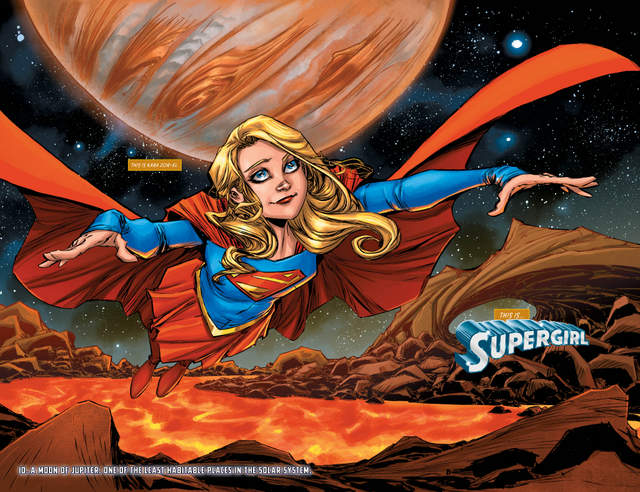 Supergirl # 1 pages 2 and 3