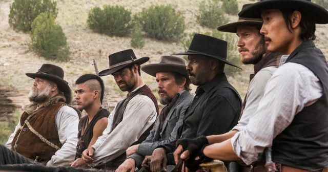 the-magnificent-seven-vincent-donofrio-martin-sensmeier-manuel-garcia-ruflo-ethan-hawke-denzel-washington-chris-pratt-and-byung-hun-lee