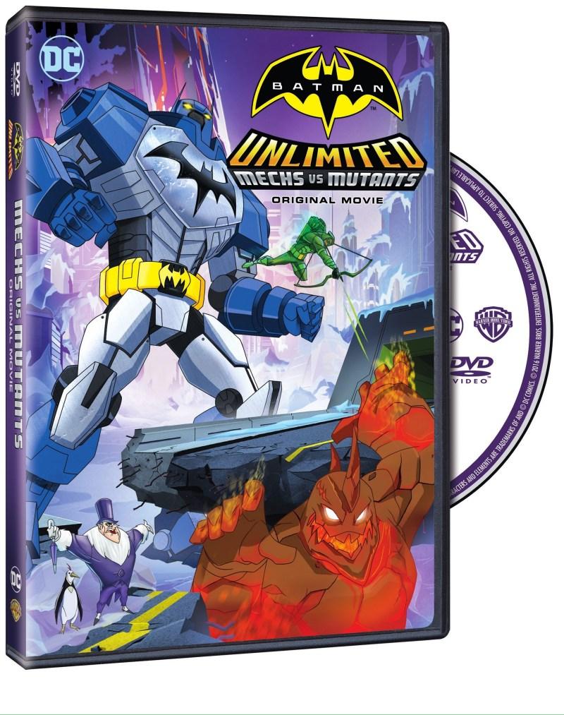 batman mech vs mutants - dvd cover
