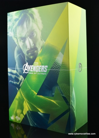 Hot Toys Quicksilver figure review - package side
