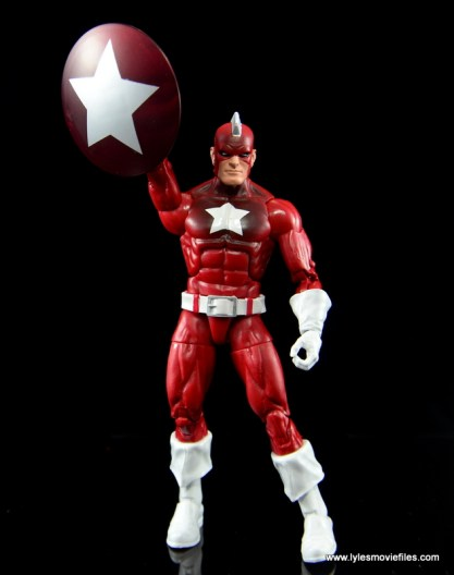 Marvel Legends Red Guardian figure review - raising shield
