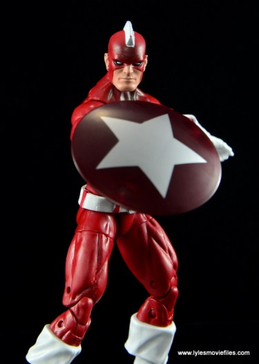 Marvel Legends Red Guardian figure review - shield out