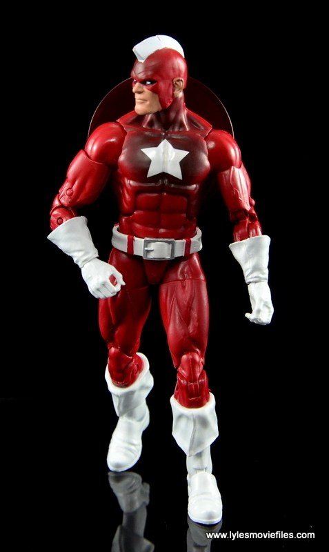 Marvel Legends Red Guardian figure review - walking forward