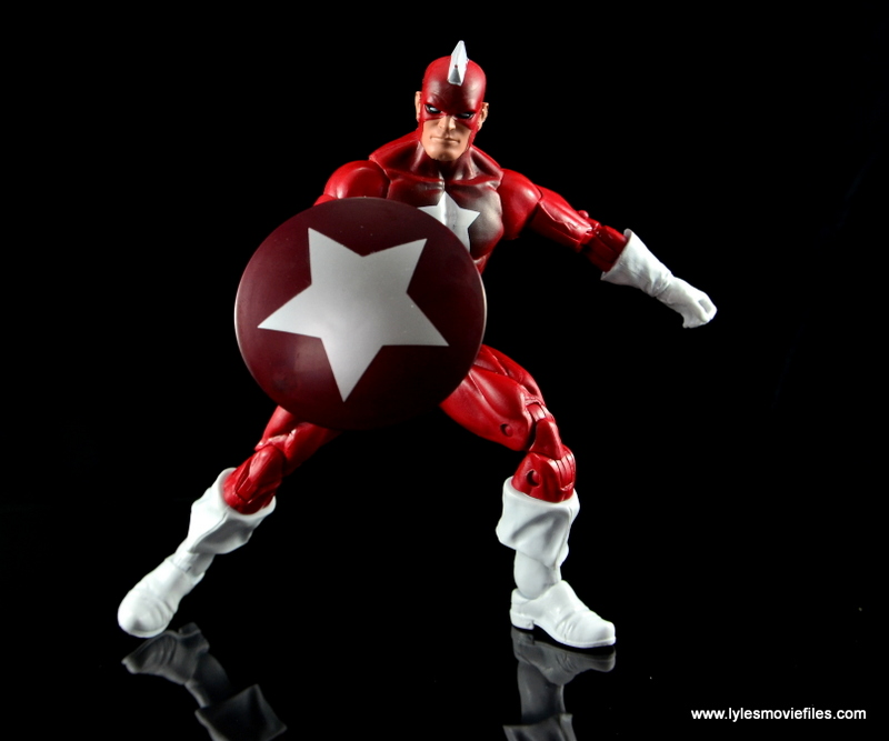 Marvel Legends Red Guardian figure review - wide pose