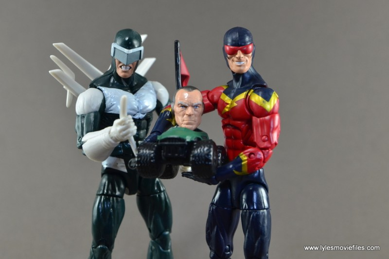 Marvel Legends Speed Demon figure review - Boomerang and Silvermane head