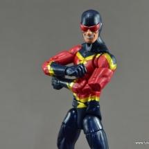 Marvel Legends Speed Demon figure review - arms folding