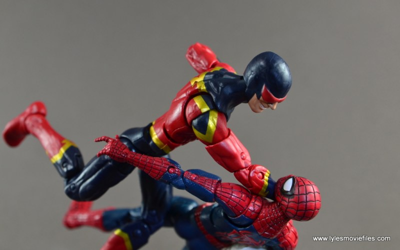 Marvel Legends Speed Demon figure review -punching out Spider-Man