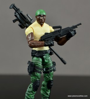 GI Joe Heavy Conflict Heavy Duty and Stiletto figure review - Heavy Duty with assault rifle