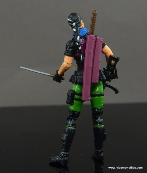 GI Joe Heavy Conflict Heavy Duty and Stiletto figure review - Stilleto rear with scabbard