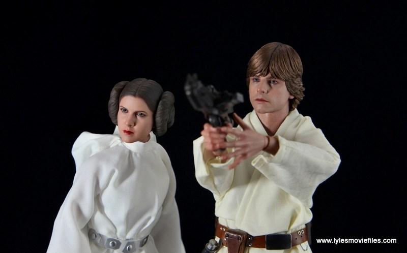 Hot Toys Princess Leia figure review - with Luke Skywalker