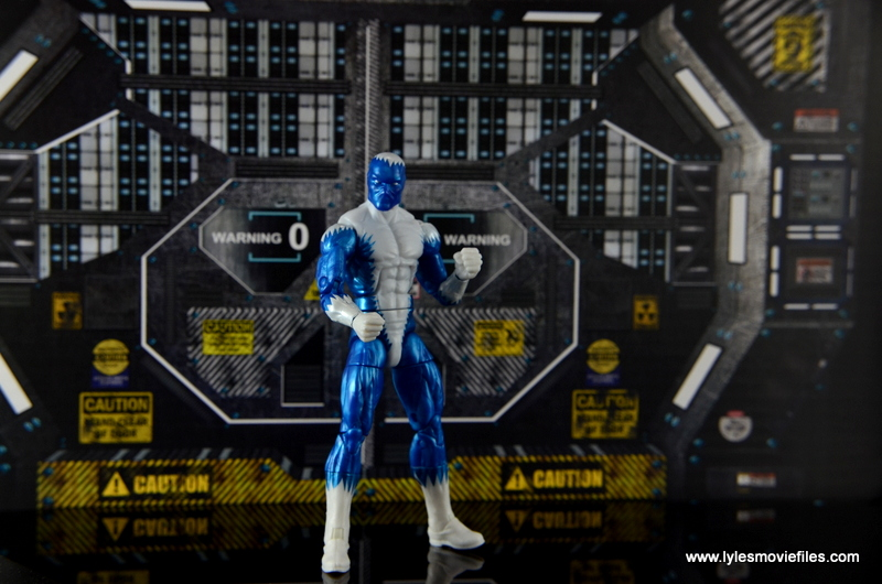 Marvel Legends Blizzard figure review -standing at the base