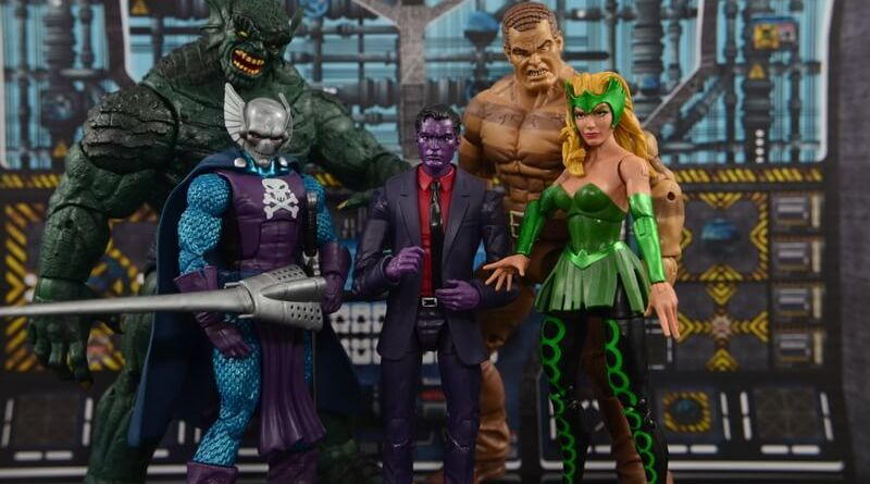 Marvel Legends The Raft figure review Abomination, Dreadknight, Purple Man, Enchantress and Sandman