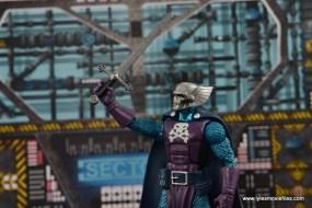 Marvel Legends The Raft figure review Dreadknight - raising sword