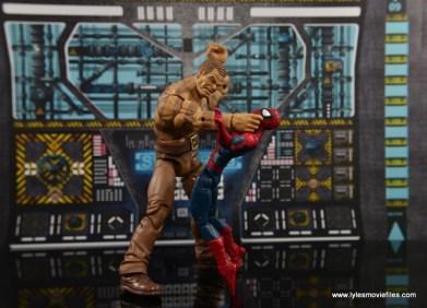 Marvel Legends The Raft figure review - Sandman choking out Spider-Man