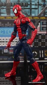 Marvel Legends The Raft figure review Spider-Man left side