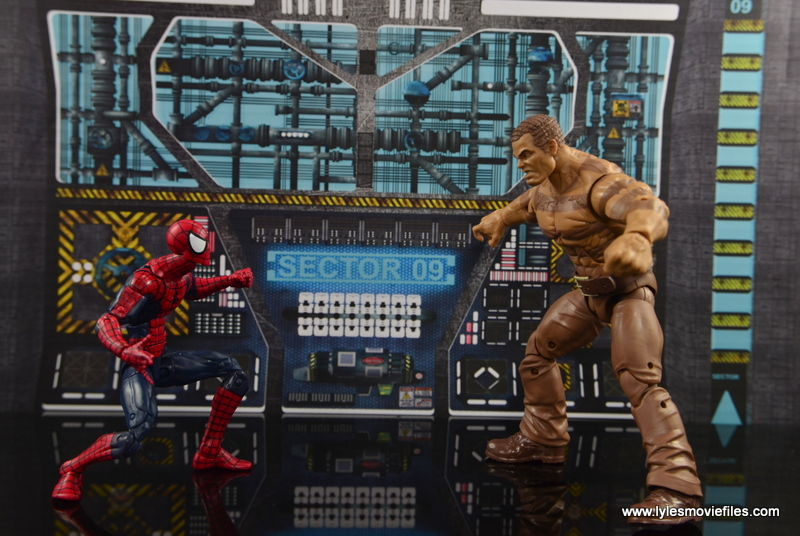Marvel Legends The Raft figure review Spider-Man vs Sandman