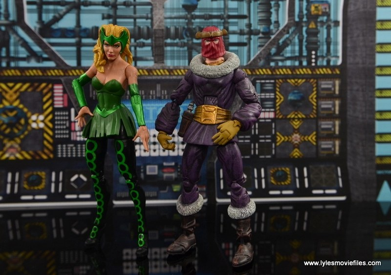 Marvel Legends The Raft figure review The Enchantress with Baron Zemo