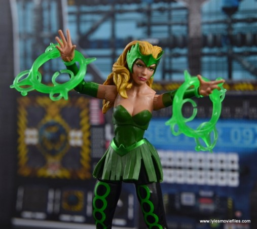 Marvel Legends The Raft figure review The Enchantress with magic bolts