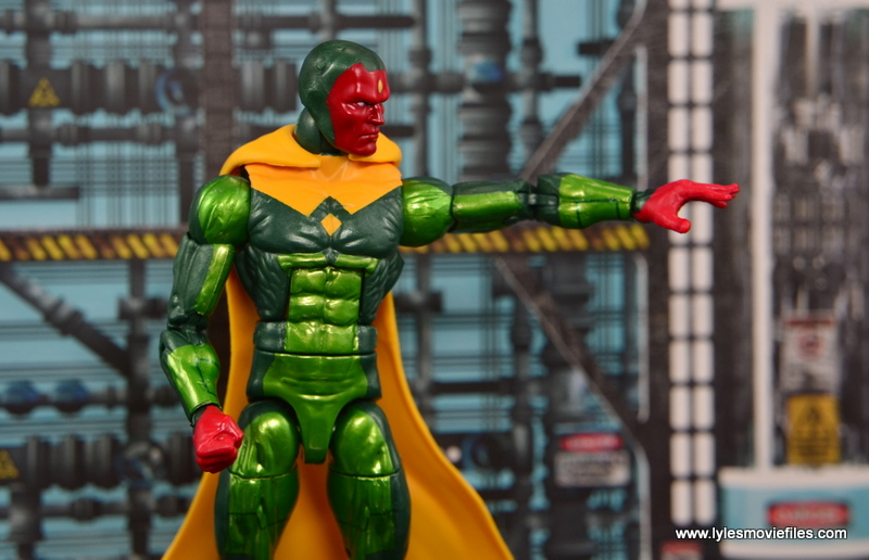 Marvel Legends Vision figure review - arm out