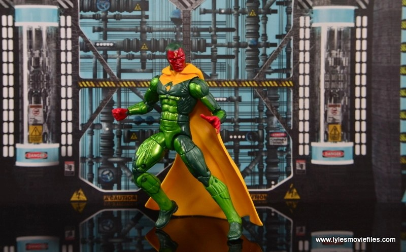 Marvel Legends Vision figure review -landing