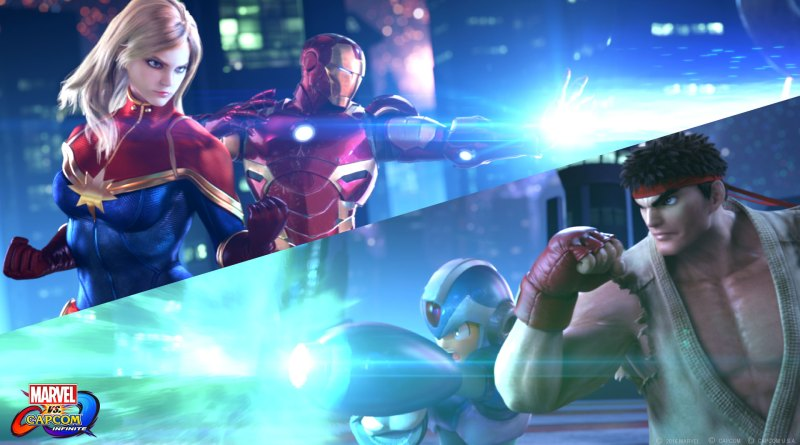 marvel-vs- capcom: infinite teaser-captain-marvel-and-iron-man-vs-mega-man-and-ryu
