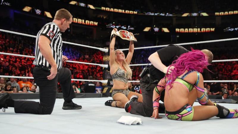WWE Roadblock 2016 - Charlotte with Women's Title