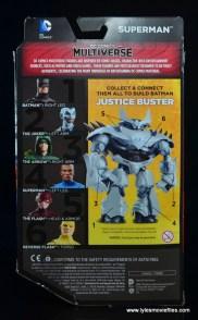 DC Multiverse Earth-23 Superman figure review - package rear