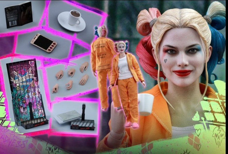 Hot Toys Prisoner Harley Quinn figure - collage