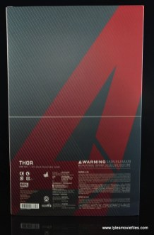 Hot Toys Thor figure review Avengers Age of Ultron -package rear