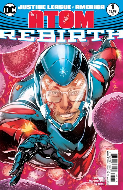 Justice League Atom Rebirth #1 cover