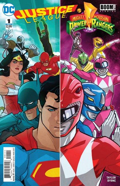 Justice League vs Power Rangers #1 cover