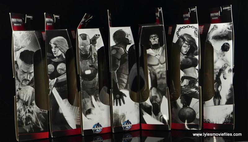 Marvel Legends Hulkbuster Iron Man side packages