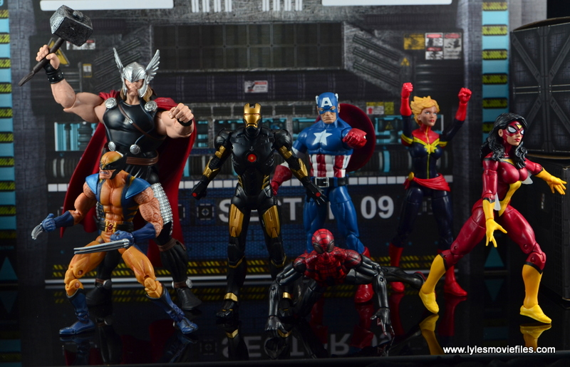 Marvel Legends Marvel Now Iron Man figure review - Marvel Now Avengers